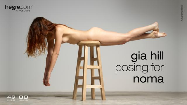 Gia Hill posing for Noma