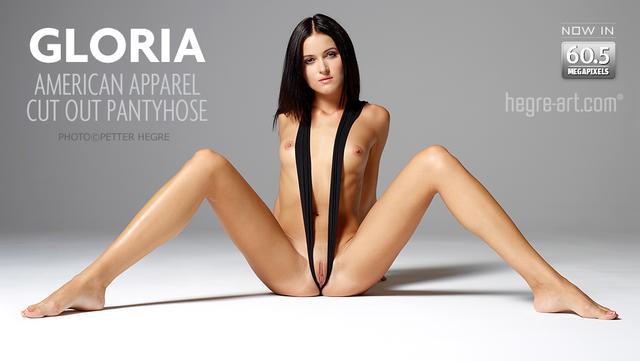 Gloria American apparel cut out pantyhose