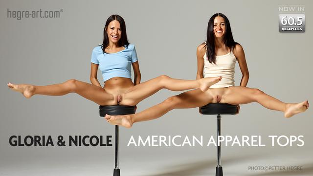 グロリア&ニコール アメリカンアパレルトップ