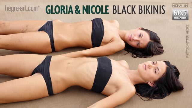 グロリア&ニコール 黒ビキニ