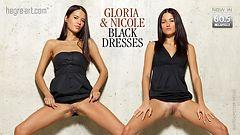 グロリア&ニコール黒ドレス