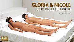 Gloria and Nicole room 102 el hotel Pacha