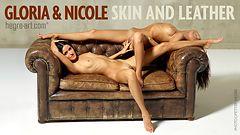 グロリア&ニコール 肌と革