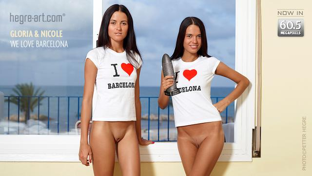 グロリア&ニコール バルセロナ大好き