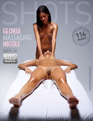 Gloria massaging Nicole