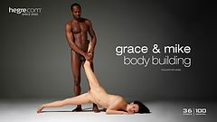 Grace and Mike body building