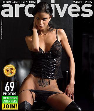 Helena Karel in black