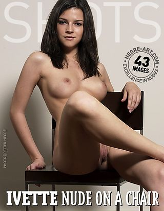 Ivette nude on a chair