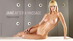 Jane après le massage