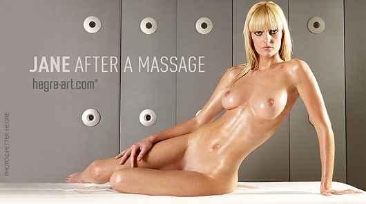 Jane después del masaje