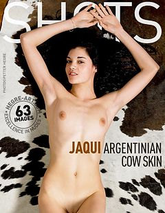 Jaqui argentinisches Kuhfell