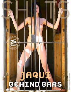 Jaqui behind bars