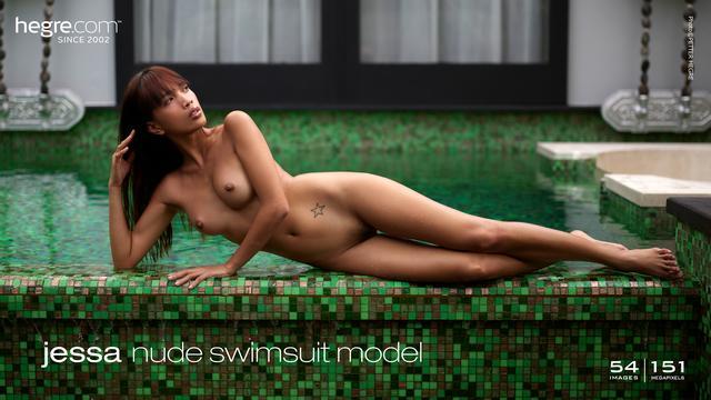 Jessa nude swimsuit model