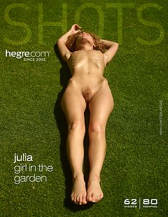 Julia girl in the garden