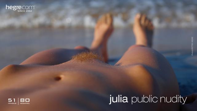 Julia public nudity