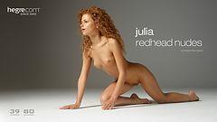 Julia desnudos de pelirroja