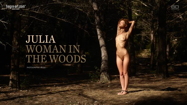 Julia woman in the woods