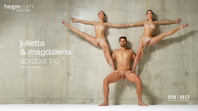 Julietta and Magdalena acrobat trio