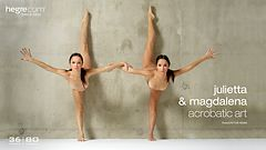 Julietta and Magdalena acrobatic art
