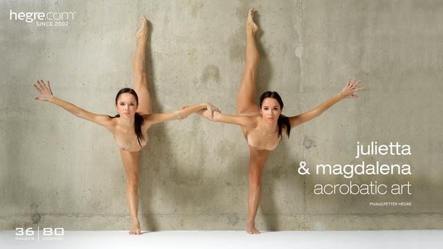 Julietta y Magdalena arte acrobático
