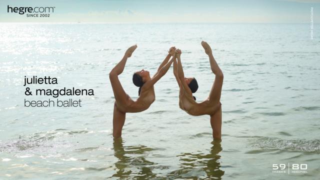 Julietta and Magdalena beach ballet