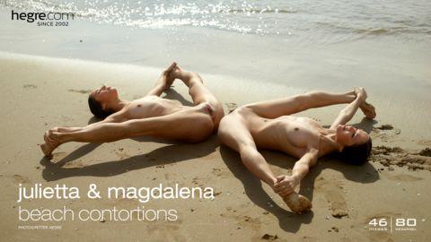 Julietta et Magdalena contorsions sur plage