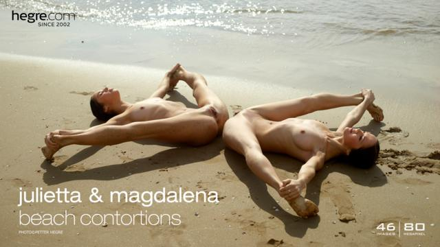 Julietta and Magdalena beach contortions