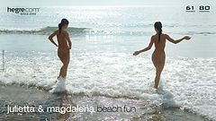 Julietta and Magdalena beach fun