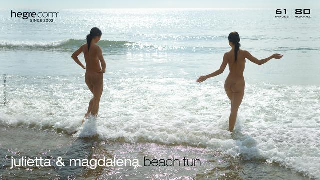 Julietta and Magdalena beach fun