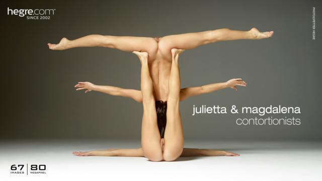 Julietta y Magdalena contorsionistas