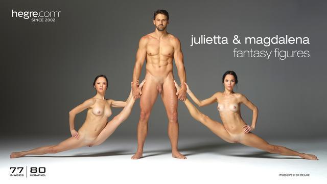 Julietta and Magdalena fantasy figures