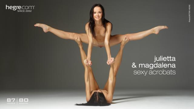 Julietta and Magdalena sexy acrobats