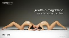 Julietta and Magdalena synchronized bodies