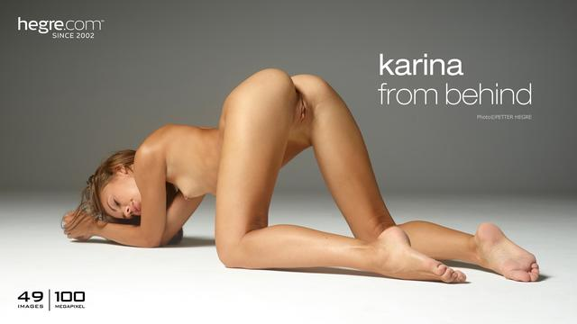 Karina from behind
