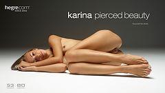 Karina Gepiercte Schönheit