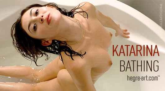 Katarina bathing