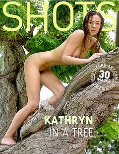 Kathryn in a tree