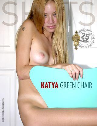 Katya chaise verte