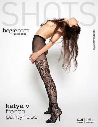 Katya V French pantyhose