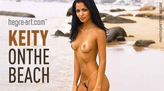 Keity on the beach