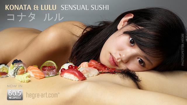 Konata and Lulu sensual Sushi