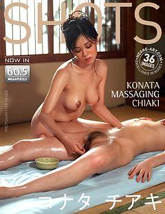 Konata massaging Chiaki
