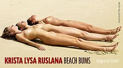 Krista Lysa Ruslana am Strand