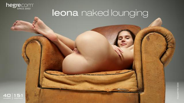 Leona naked lounging