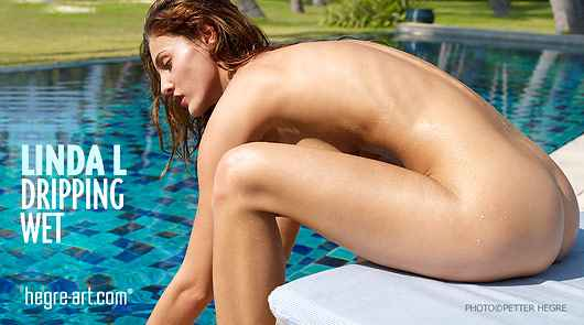 Linda L dripping wet