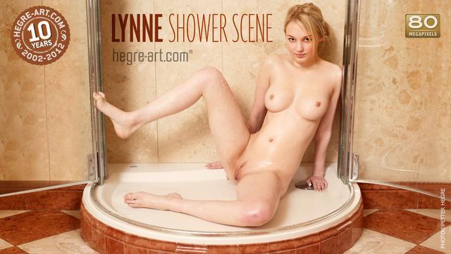 Lynne shower scene