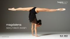 Magdalena sexy black swan