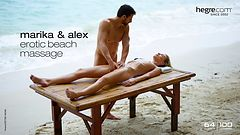 Marika and Alex erotic beach massage