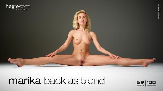 Marika à nouveau blonde