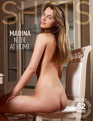 Marina nude at home